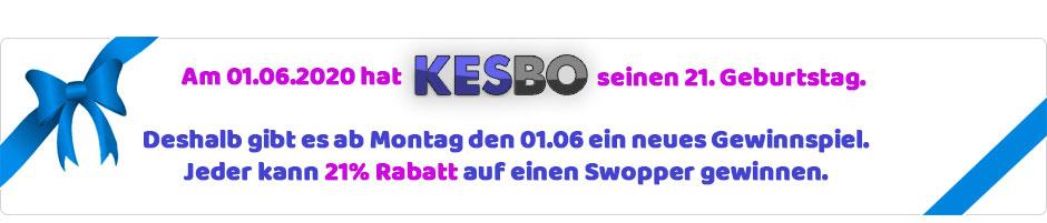 Kesbo Gewinnspiel zum 21. Geburtstag